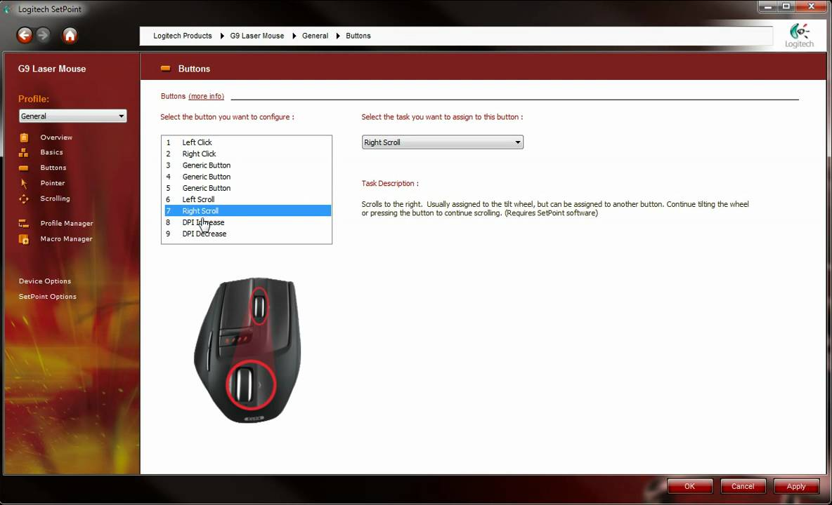 Logitech G9 software