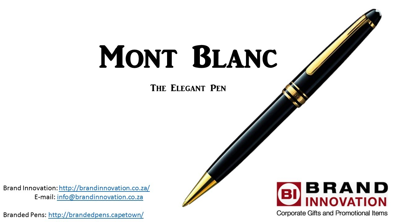 Expensive Pens- The Elegant Mont Blanc Pen
