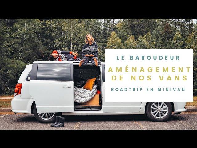 Aménagement des minivans -  Louer une van avec Le Baroudeur