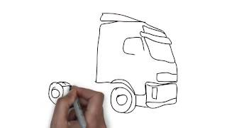 How To Draw Lorry Cab