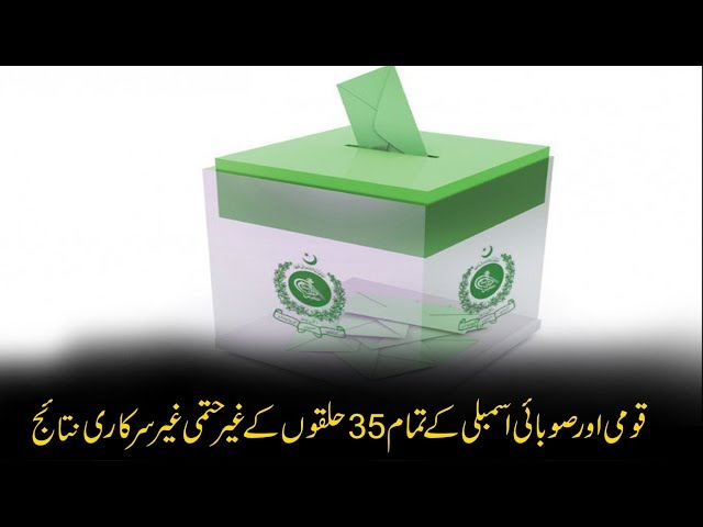 CapitalTV; By-election 2018: Unofficial results of all 11 NA, 24 PA seats