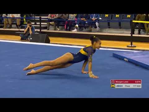 Brianna Brown Michigan 2018 Floor vs Ohio State 9.85