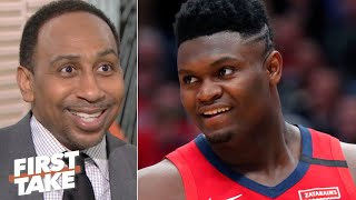 Download Stephen A. reacts to Zion Williamson's NBA debut | First Take Mp3 and Videos