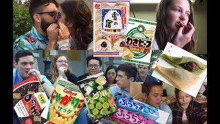 日本のお菓子を食べもらったらinカナダ(foreigners  try Japanese candy )