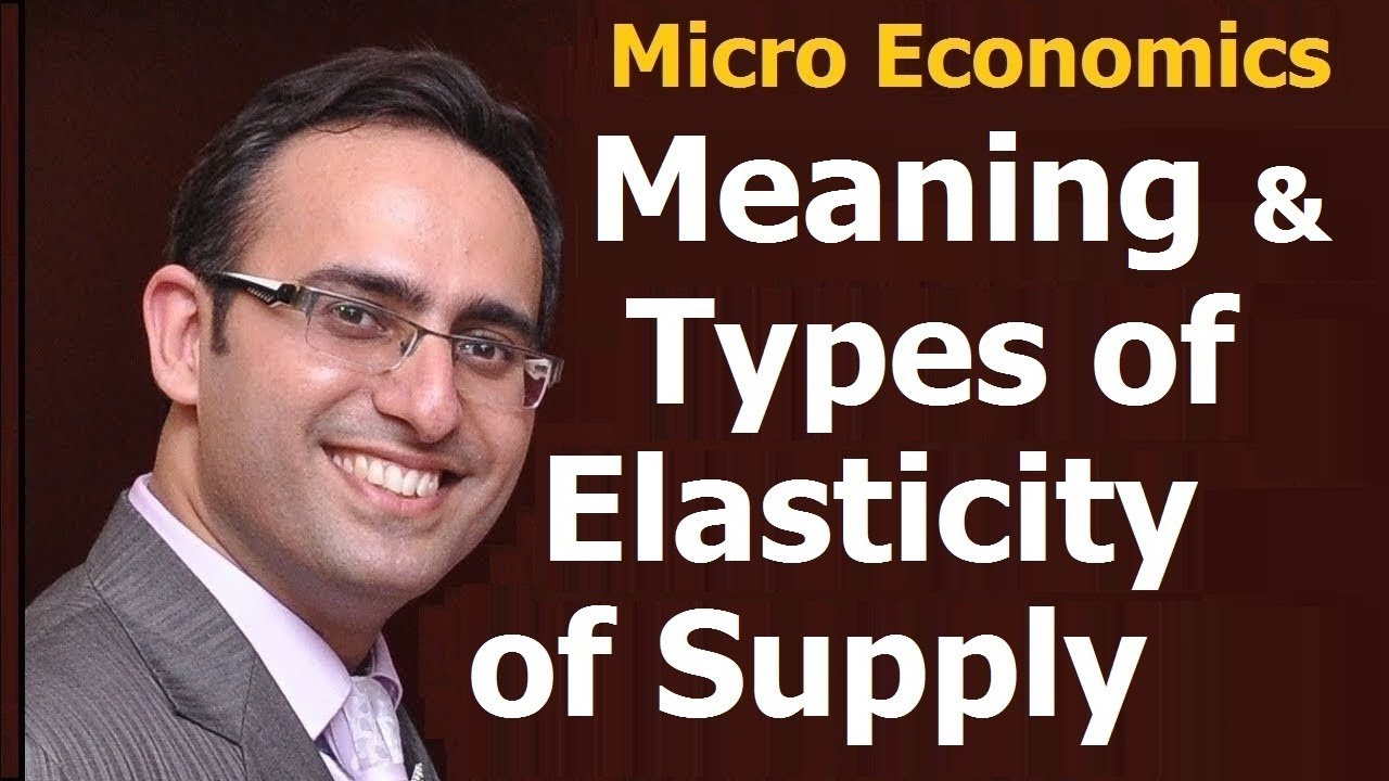 30 Economics Meaning And Types Of Elasticity Of Supply Youtube