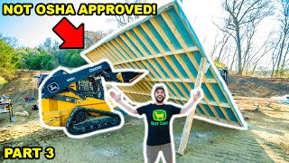 Building a OFF-GRID CABIN in My BACKYARD!!! (Part 3)