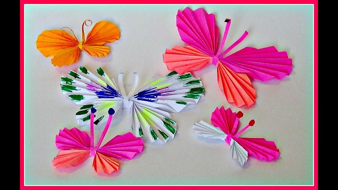Бабочка из бумаги гармошкой открытка, открытка для женщин