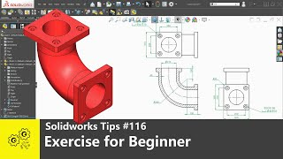 Solidworks tutorials #116   exercise for beginner   solidworks2020 tips