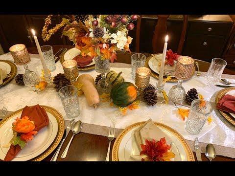 Dollar Tree Thanksgiving Tablescape