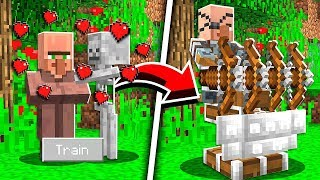 How to TRAIN VILLAGERS in Minecraft Tutorial! (Pocket Edition, Xbox, PC)