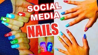 SOCIAL MEDIA NAILS (Facebook,Instagram,Youtube,Twitter,Whatsapp,Messenger,Snapchat,Musical.ly)