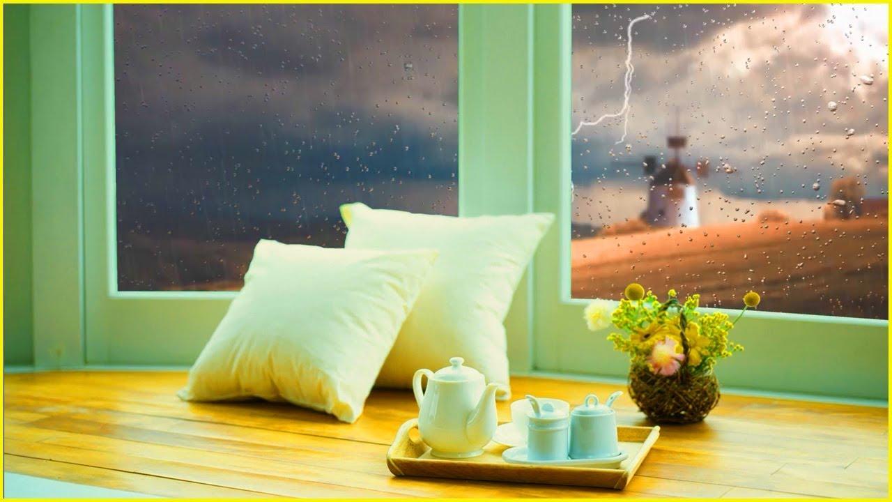 【 安眠の秘密 】雨と雷音の音, 超高速睡眠, 雨は睡眠のための音「ホワイトノイズ」