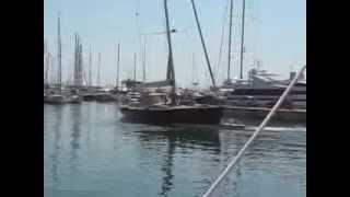 Yacht aground in Antibes Harbor