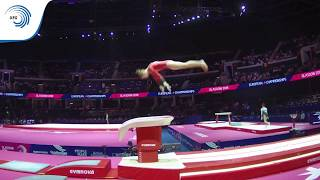 Noemie LOUON (BEL) - 2018 Artistic Gymnastics Europeans, junior qualification vault