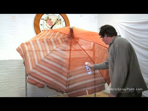 How to Use Simply Spray Outdoor Fabric Paint on a Patio Umbrella