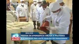 Bolivia: Ejército produce pan ante huelga de panaderos
