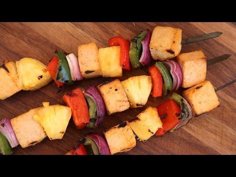 Spicy Pineapple Skewer Recipe | Vegetarian BBQ