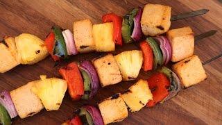 Spicy Pineapple Skewer Recipe   Vegetarian BBQ