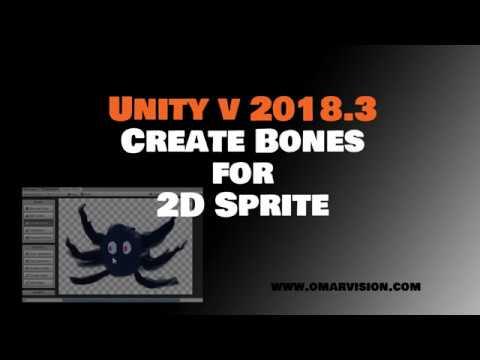 create bones for 2d sprite - unity version 2018 3