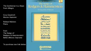 "The Gentleman Is a Dope from ""Allegro"" (Belter/Mezzo-Soprano) by Rodgers and Hammerstein"