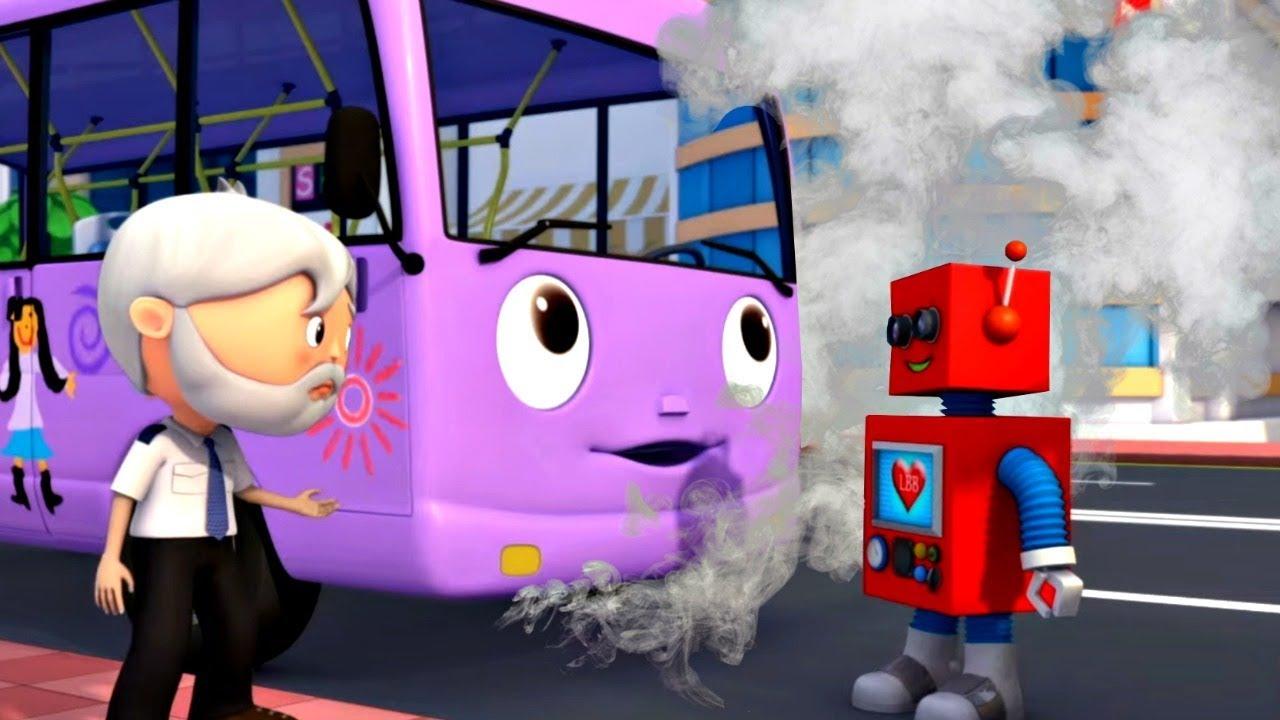 Детские песни про автобусы в одном сборнике Литл Бэйби Бам — Музыкальные мультики про машинки