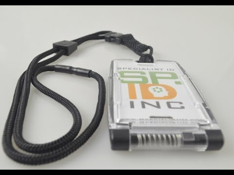 10983 Black EK One Hander Holder With Detachable Lanyard From Specialist ID