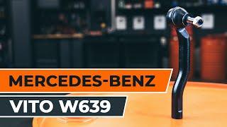 Kuinka vaihtaa raidetangon pää MERCEDES-BENZ VIANO W639 -merkkiseen autoon OHJEVIDEO | AUTODOC