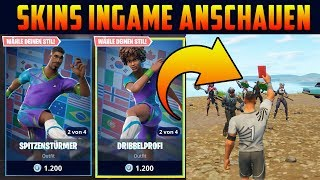 new! Watch Fortnite WM Skins in-game - Football Skins ingame