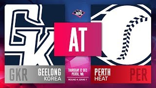 Geelong-Korea @ Perth Heat | Round 4, Game 4