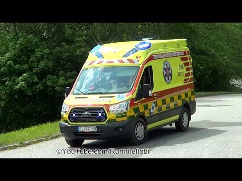 *new* Bratislava EMS Ford Transit ambulance + hospital Mercedes Sprinter ambulance [CZ | 25.5.2019]