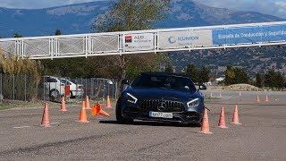 Mercedes AMG GT C Roadster 2017 Maniobra de esquiva moose test y eslalon km77.com
