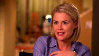 "Crisis: Rachael Taylor ""FBI Agent Susie Dunn"" On Set TV Interview"