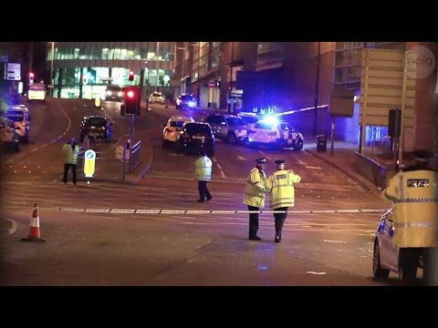Explosion at Ariana Grande concert in England kills at least 22 people
