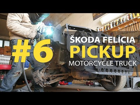 #6 Škoda Felicia Pickup 1.9D Rebuilding A Wrecked - Repair Cargo Space And Welding Front Of The Car