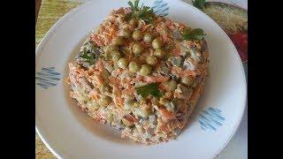 Праздничный салат из печени