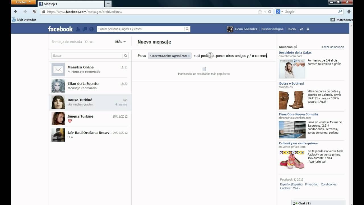 Cómo reenviar mensajes de Facebook a Gmail o a otras cuentas de