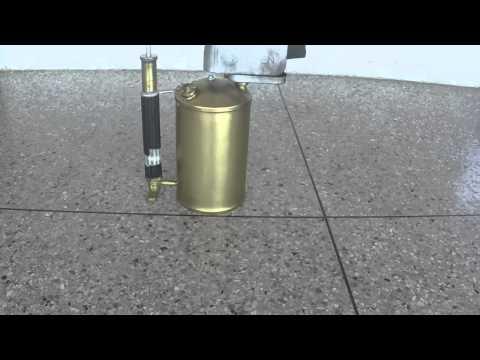 soplete antiguo sievert de gasolina de 3 litros con todo su proceso de prendido goh3+
