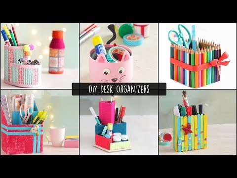 6 Easy DIY Desk Organizers |  Cardboard Organizers