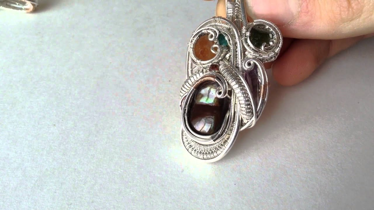 Fire Agate Wire Wrap Crystal Pendant by Stillness - YouTube