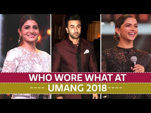 """Deepika Padukone, Shah Rukh Khan, Anushka Sharma: Who wore what at Umang 2018"""