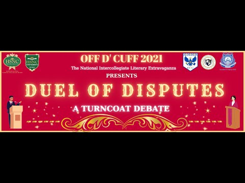 Duel Of Disputes: Round 1, PSDS National Literary Extravaganza Off D'Cuff 2021