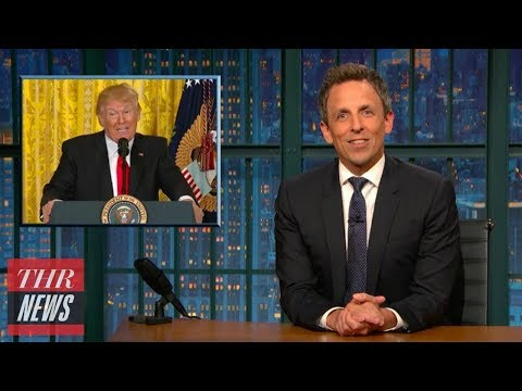Late-Night Hosts Take On Manafort Indictment, Russia Investigation | THR News