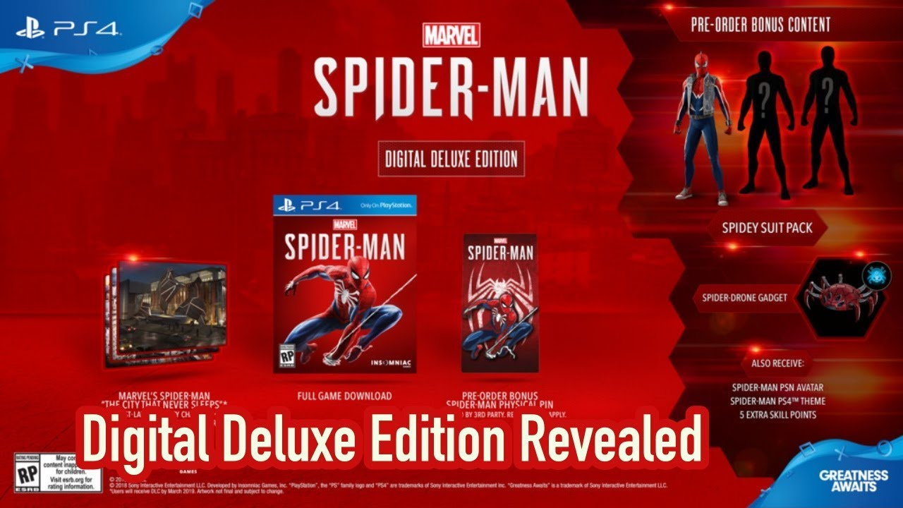 marvels spider-man digital deluxe edition pin