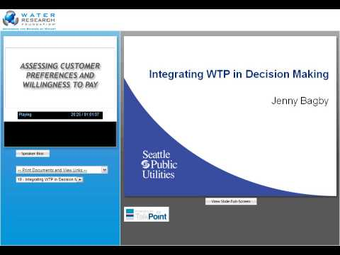 Assessing Customer Preferences and Willingness to Pay: A Handbook for Water Utilities