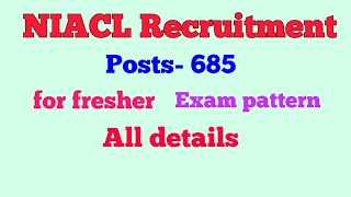 NIACL recruitment 2018 - total post 675