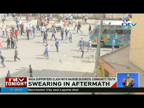 One person seriously injured in clash between Nasa supporters and the Nairobi business community