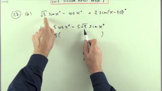2013 SQA Higher Maths:  paper 1 no.23  Wave function