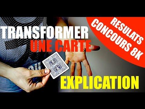 COMMENT TRANSFORMER UNE CARTE ET LA FAIRE CHANGER DE COULEUR ?! EXPLICATION TUTO MAGIE - YouTube