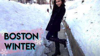 TRAVEL WITH ME: BOSTON VLOG   Snowy Winter Trip!