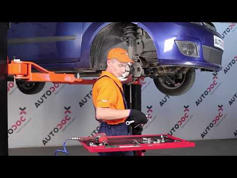 How to replaceFront Anti Roll Bar Link onFORD FIESTA 5TUTORIAL | AUTODOC